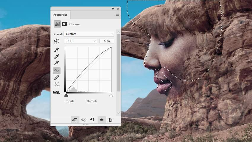 Photoshop Adjustment Layers - face curves 2