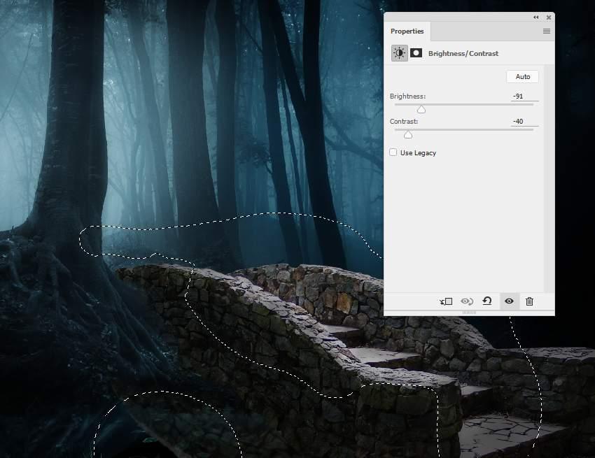 fantasy digital art - bridge brightness contrast