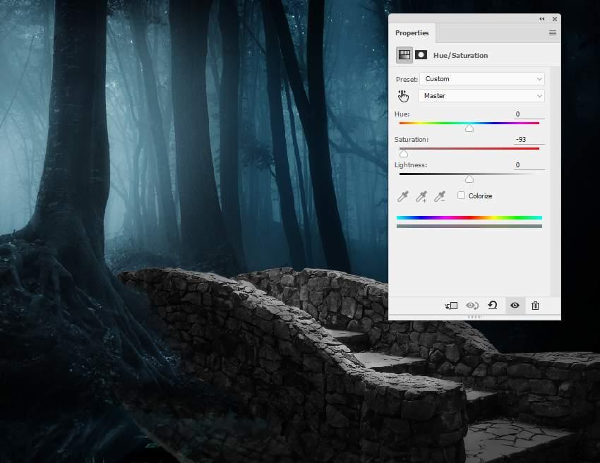 fantasy digital art - bridge hue saturation