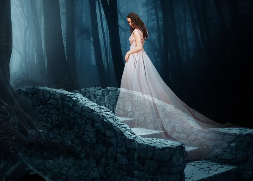 fantasy digital art  - model dress masking 2