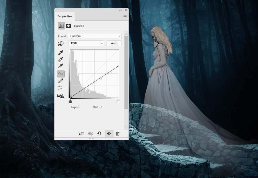 fantasy digital art  - model curves 1