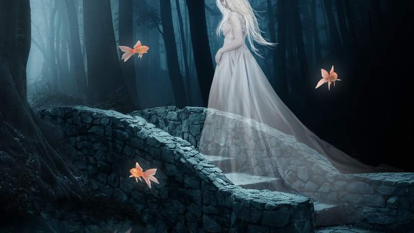 fantasy digital art - fish masking
