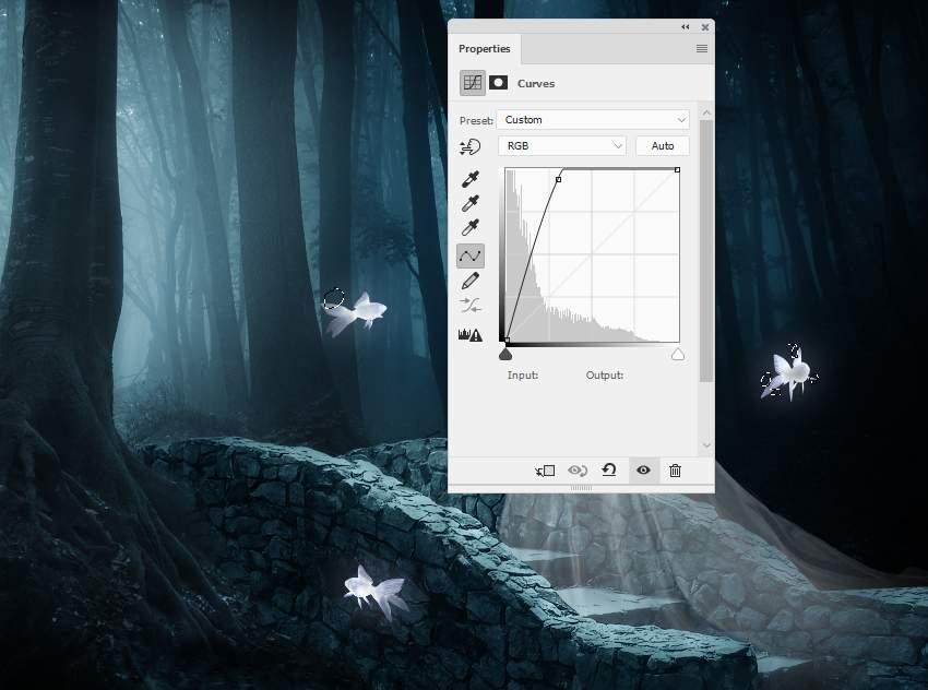 fantasy digital art - fish curves