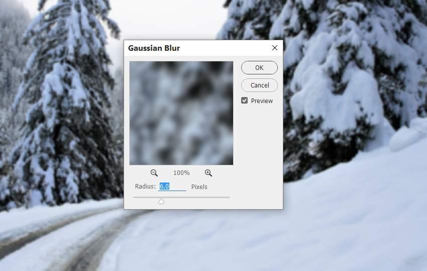 photo manipulation - winter gaussian blur