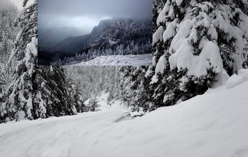photo manipulation - add mountain