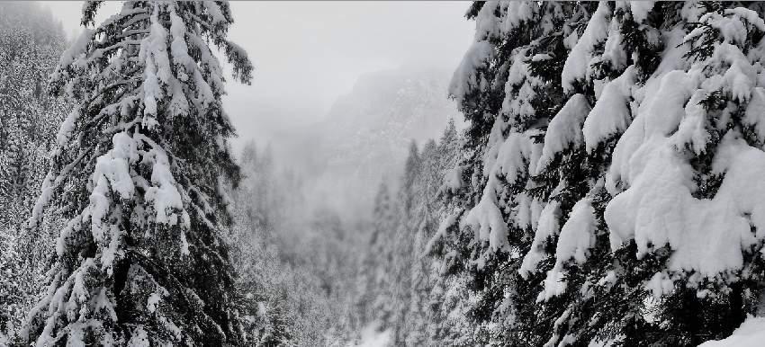 photo manipulation - mountain masking