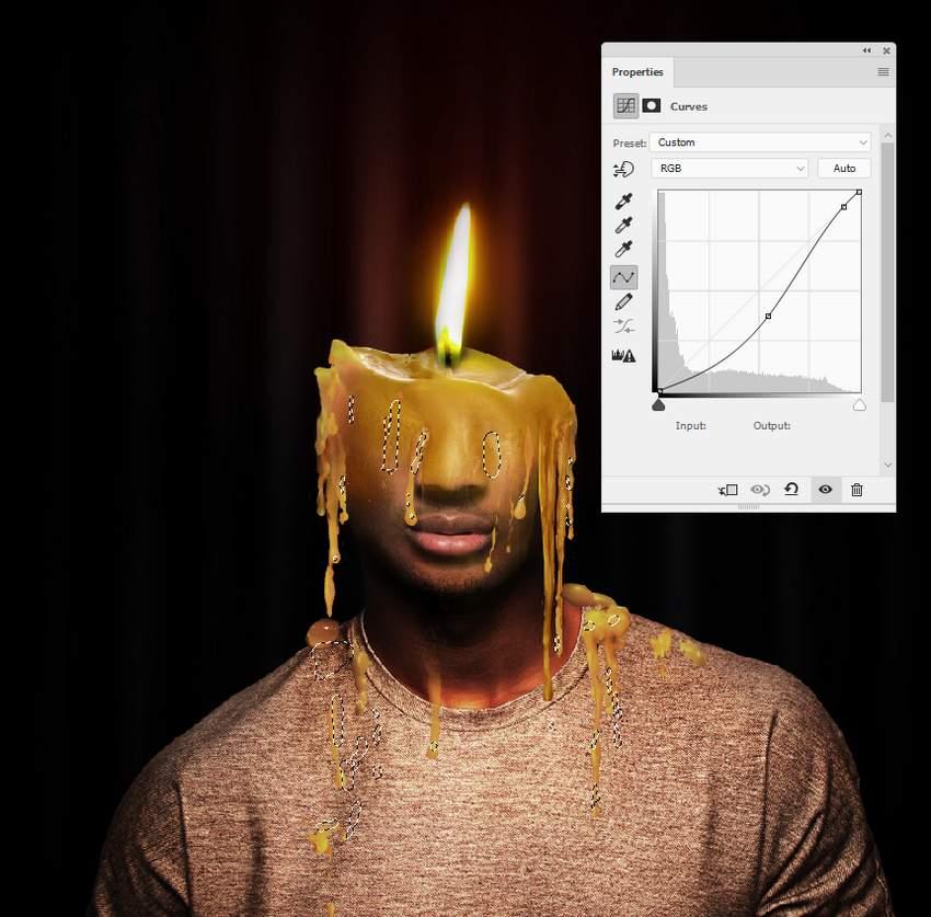 photo effect - wax 2 curves