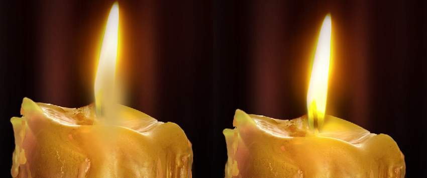photo effect - candle glow 3