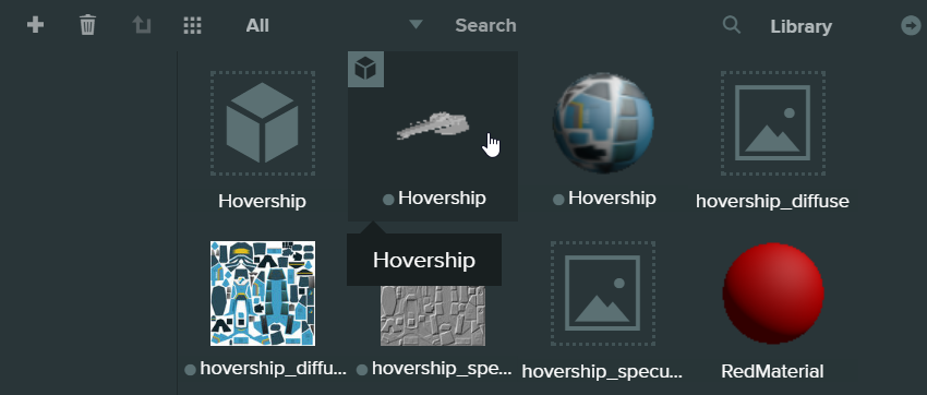 How to add the hovership model into the scene