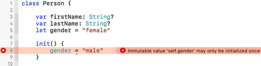 Defining an Initializer