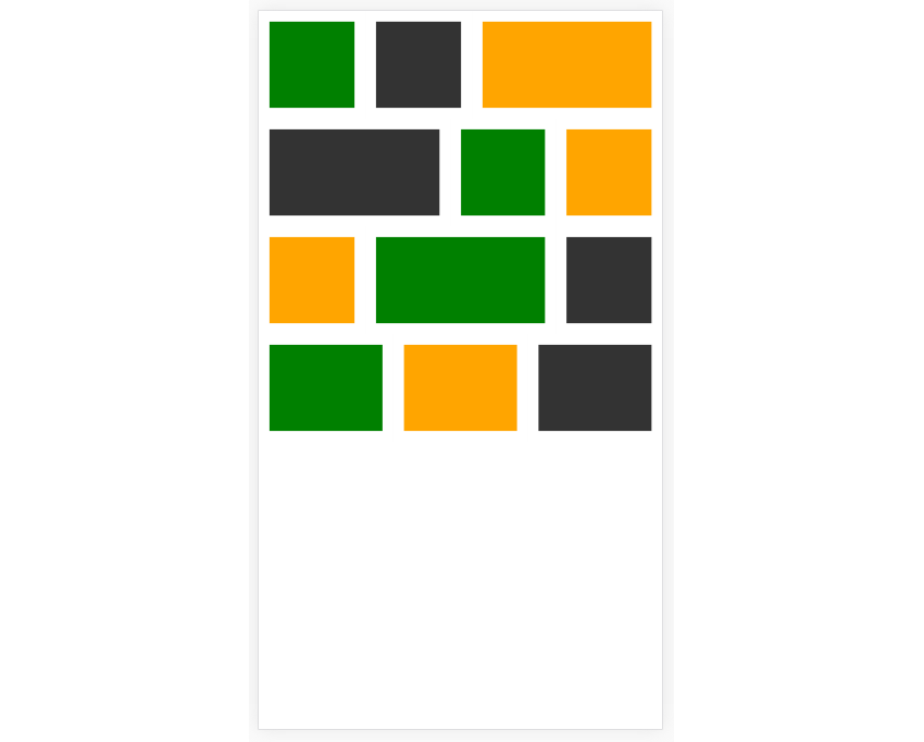 Grid Layout With Spaces