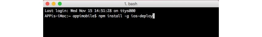 Installing ios-deploy