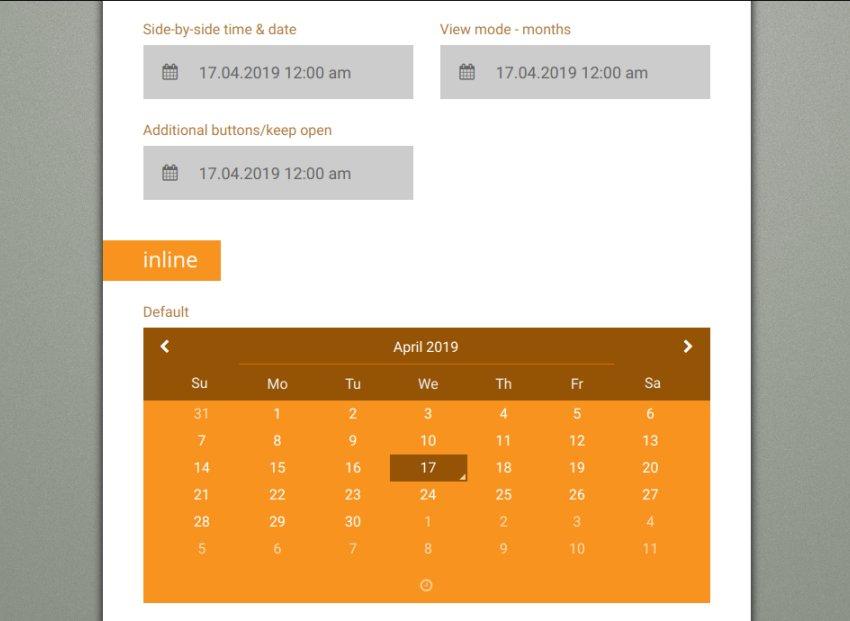Forms Plus datepicker widgets