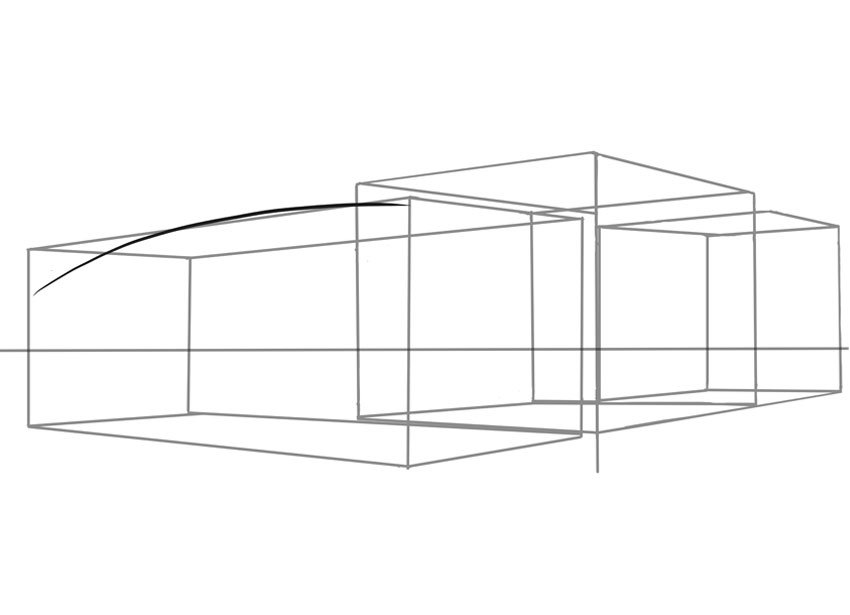 A simple curved line starts our car