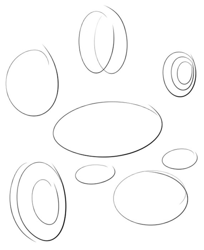 Practicing drawing ellipses and circles is essential