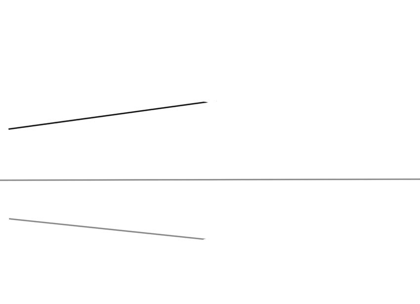 Remember to use a steel rule when drawing lines