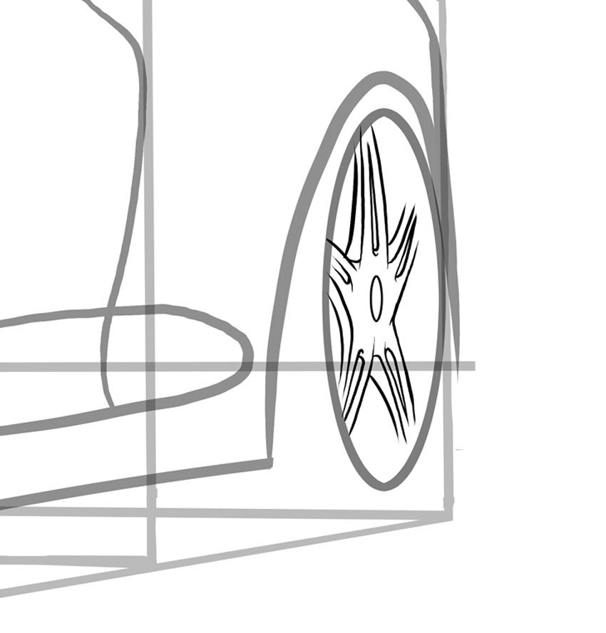 Notice how much different our second rim is thanks to perspective