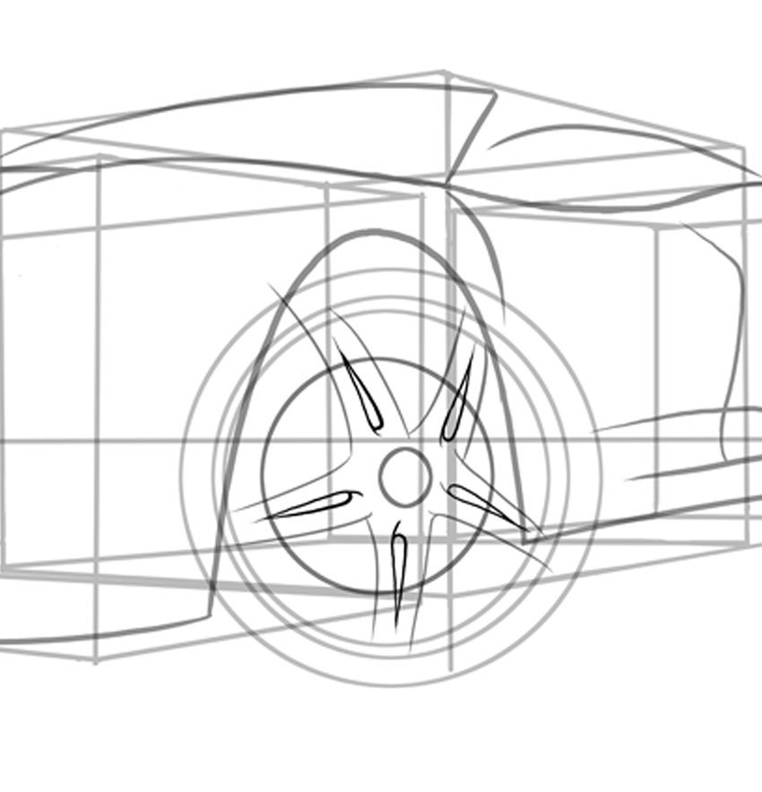 Take careful note how each spoke is drawn slightly differently
