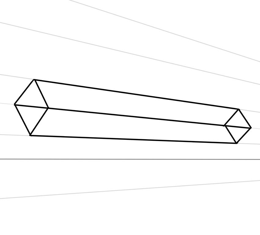 Your first objective is to draw a rectangular box for the body