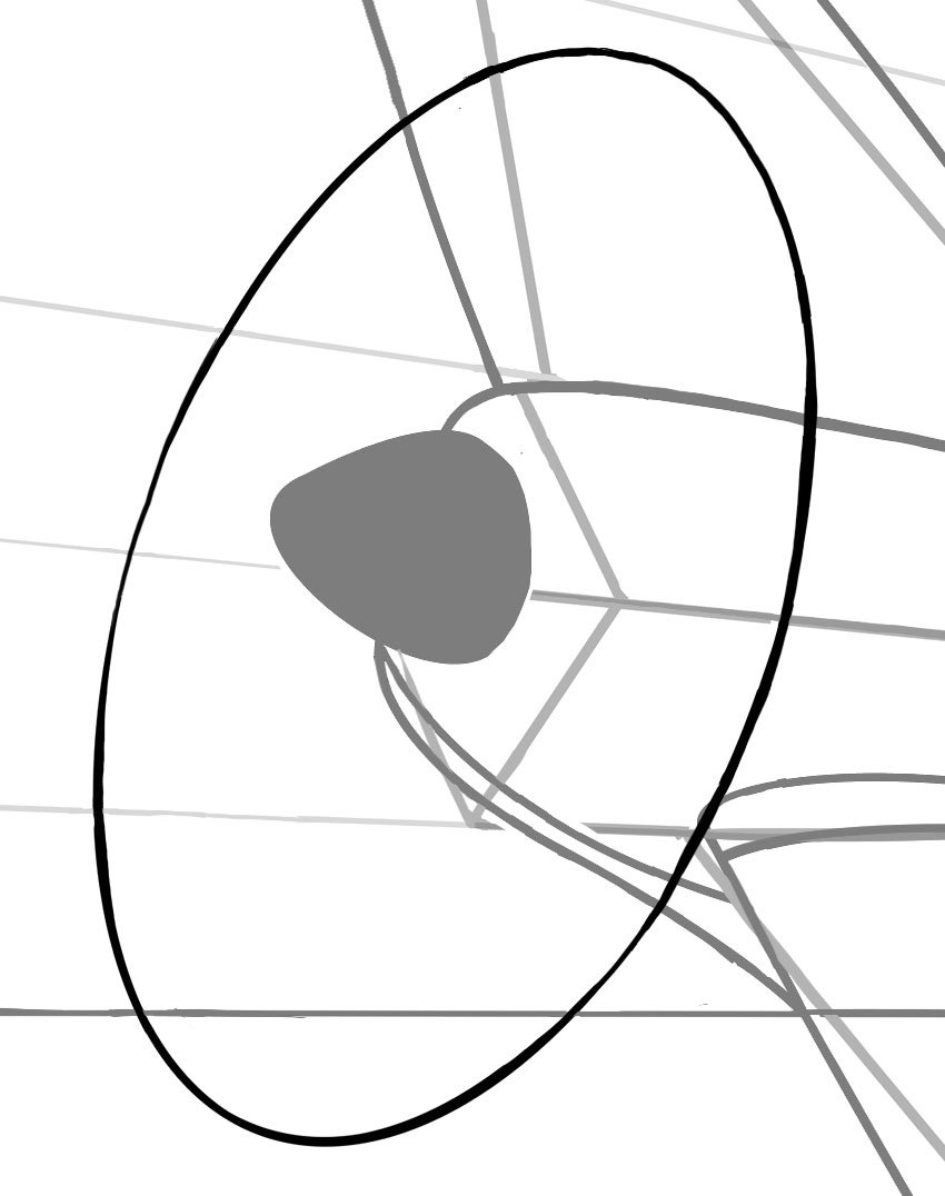 Your propellor can be created by drawing an ellipse