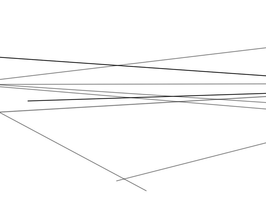 Follow up with another two lines coming from the right vanishing point