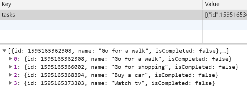 An example with local storage
