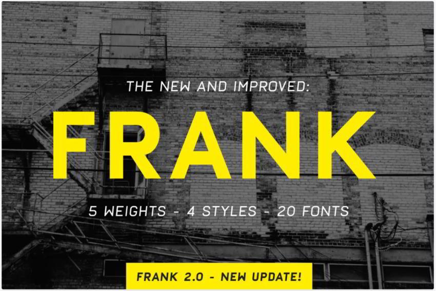 FRANK - FONT PACK on Envato Elements