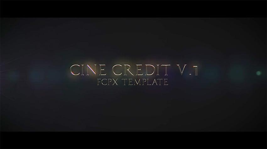 cinematic title credits