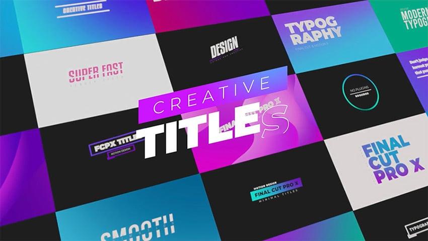 creative titles design