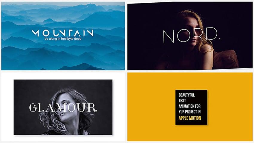 modern typography design sample