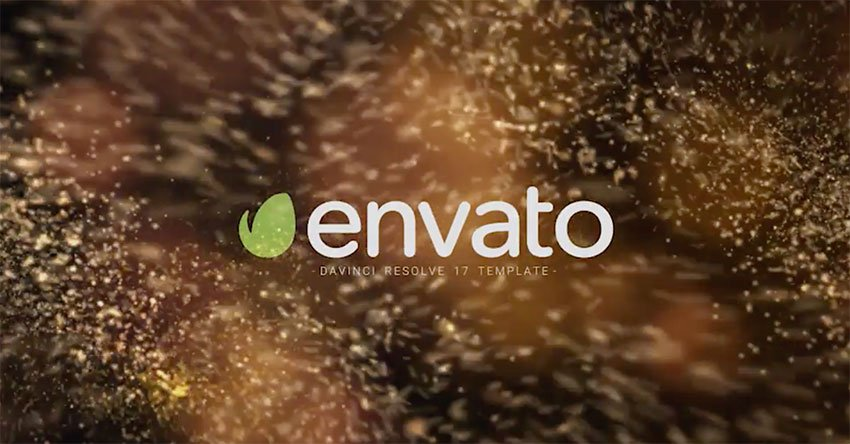 Particle Burst DaVinci Resolve Logo Reveal Template