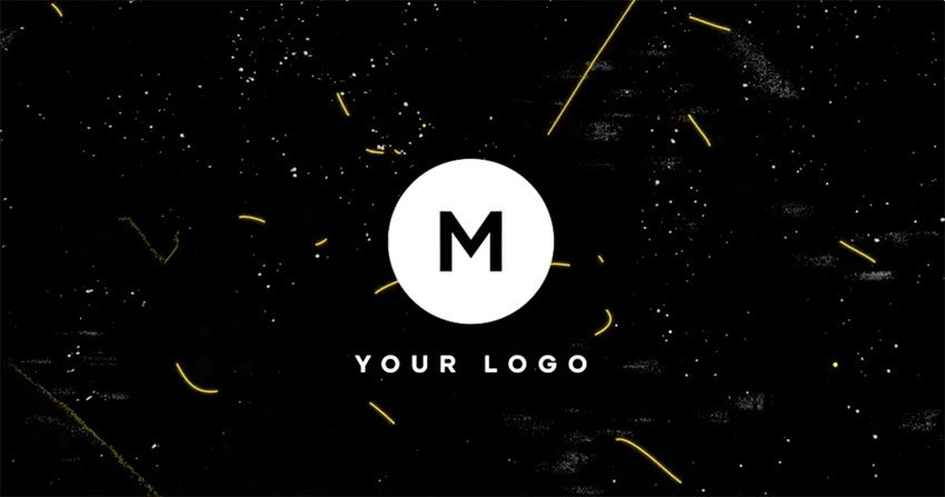Scribble Grunge DaVinci Resolve Logo Animation Template