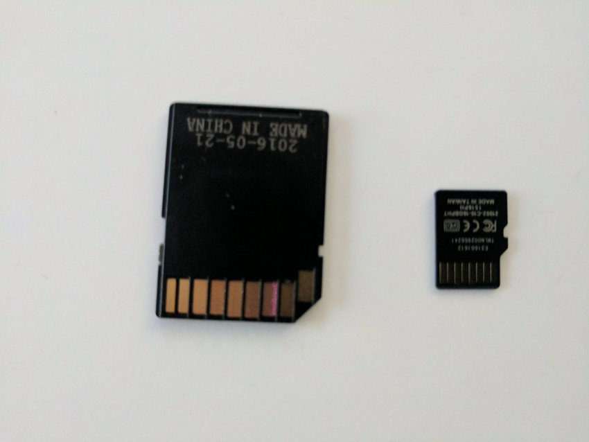 SD card and adapter