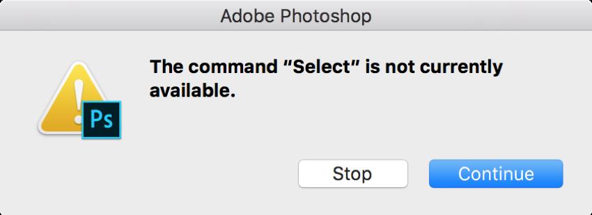 photoshop error