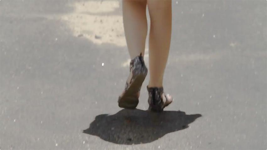 feet shot