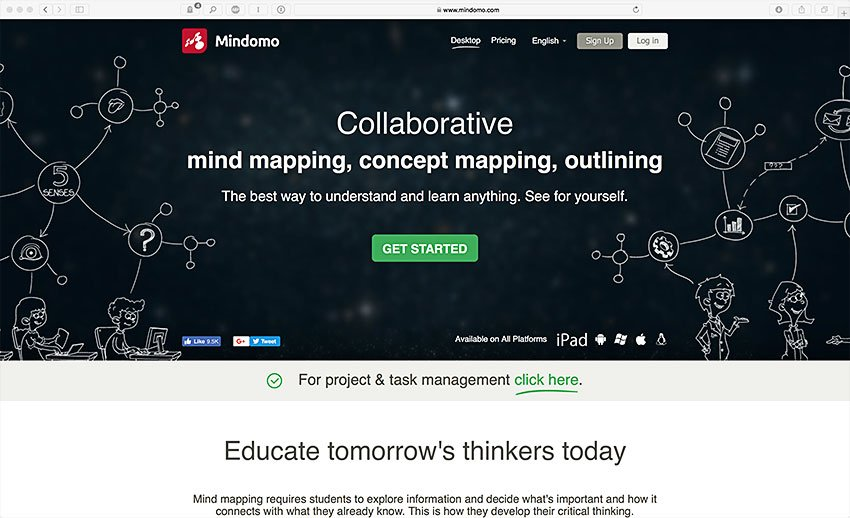 mindomo visual brainstorming mind mapping software