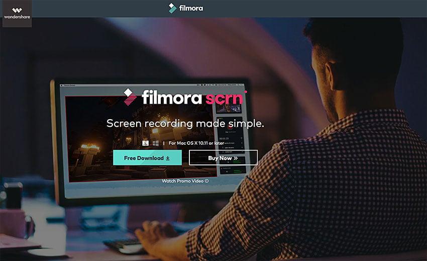 filmora screen recording software