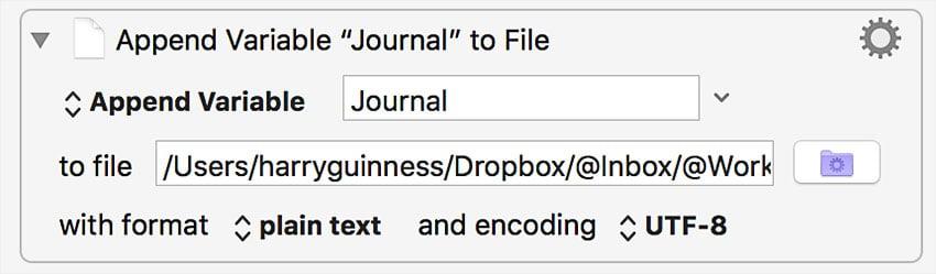 adding journal