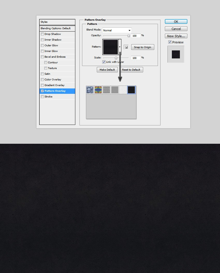 add a texture to the background layer