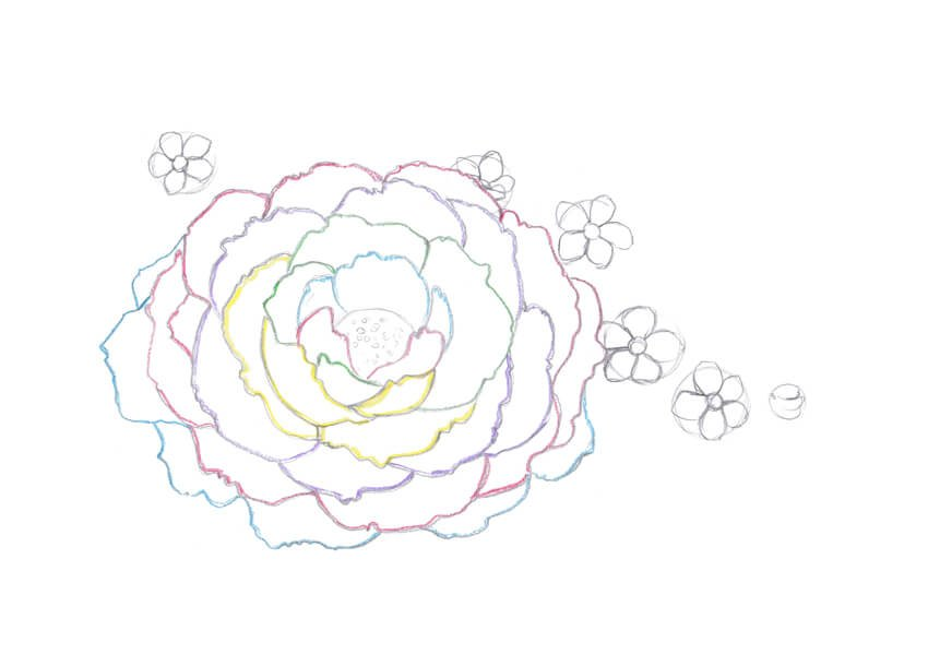 Adding the petals