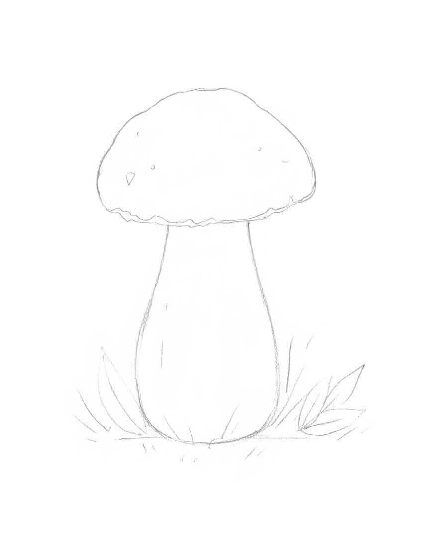 Adding the details to the mushroom