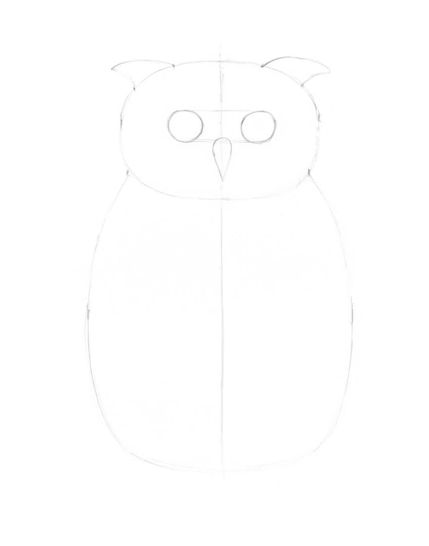 Drawing the ear tufts