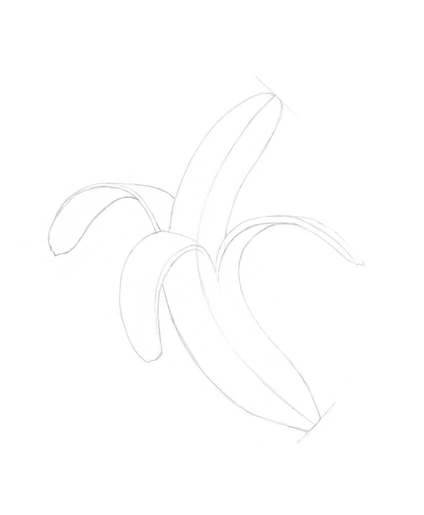 Drawing other segments of the peel