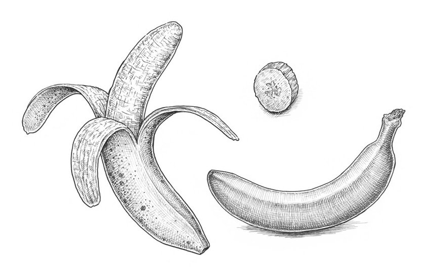 How to Draw a Banana Tutorial