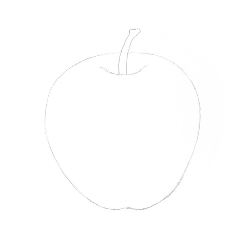 Refining the apple drawing