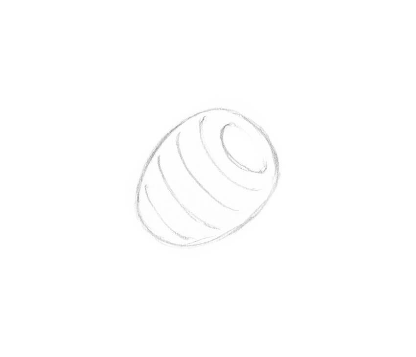 Sketching the shape of the raspberry