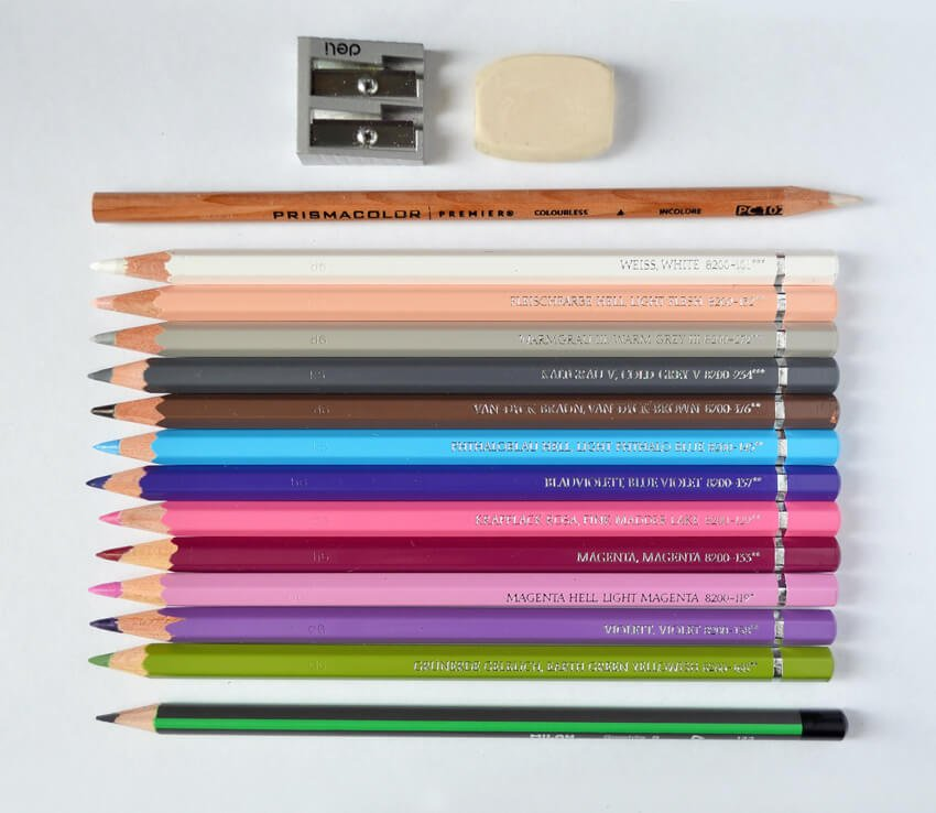 The art supplies Ill be using