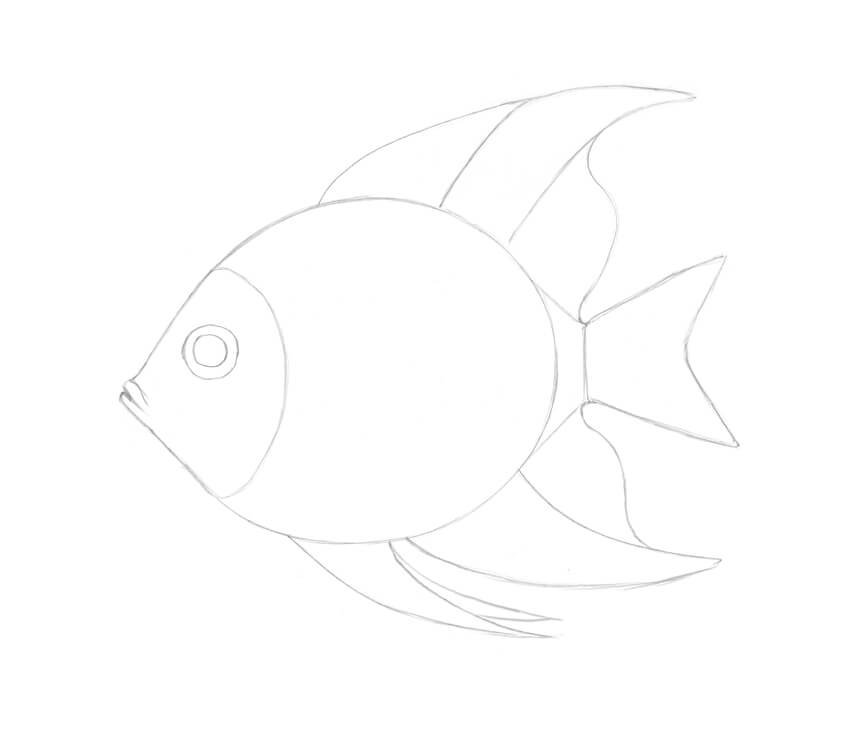 Stylizing the mouth of the fish