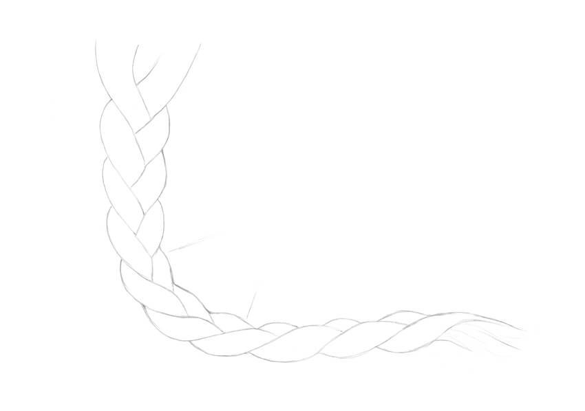 Drawing the braid in a side view