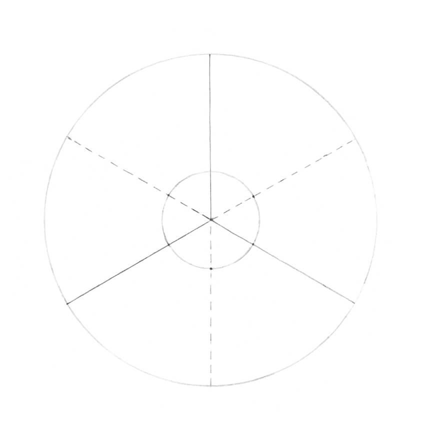 Dividing the sectors in half